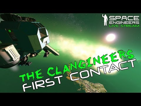 Space Engineers: FIRST CONTACT - 'Clangineers' Alien Survival #1 (Bugs + Meteors + Planetary Bases)
