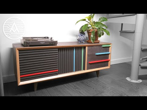 Building a Record Player Cabinet -- Woodworking