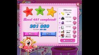 Candy Crush Saga Level 487 ★★★ 3 Stars - NO BOOSTER