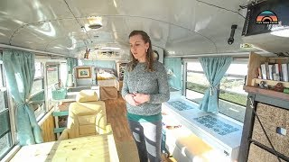 Couple Builds Beautiful School Bus Conversion As Their Fulltime Tiny Home On Wheels