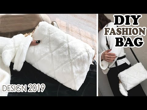 DIY WINTER PURSE BAG TUTORIAL // Cute Faux Fur Bag With Pockets Inside