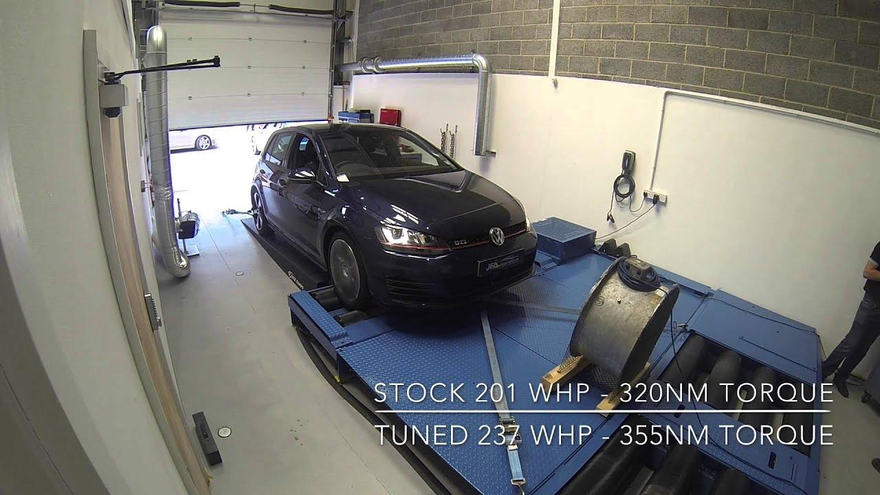 jf automotive vw golf gti mk7 engine tuning ecu remapping on the dyno youtube