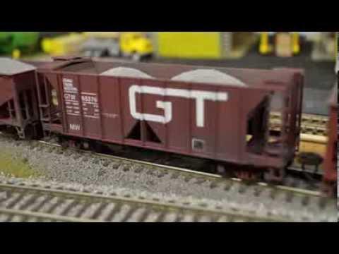 Grand Trunk Western Ballast Train [watch in HD] HO scale