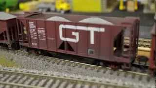 Grand Trunk Western Ballast Train [watch in HD] HO scale
