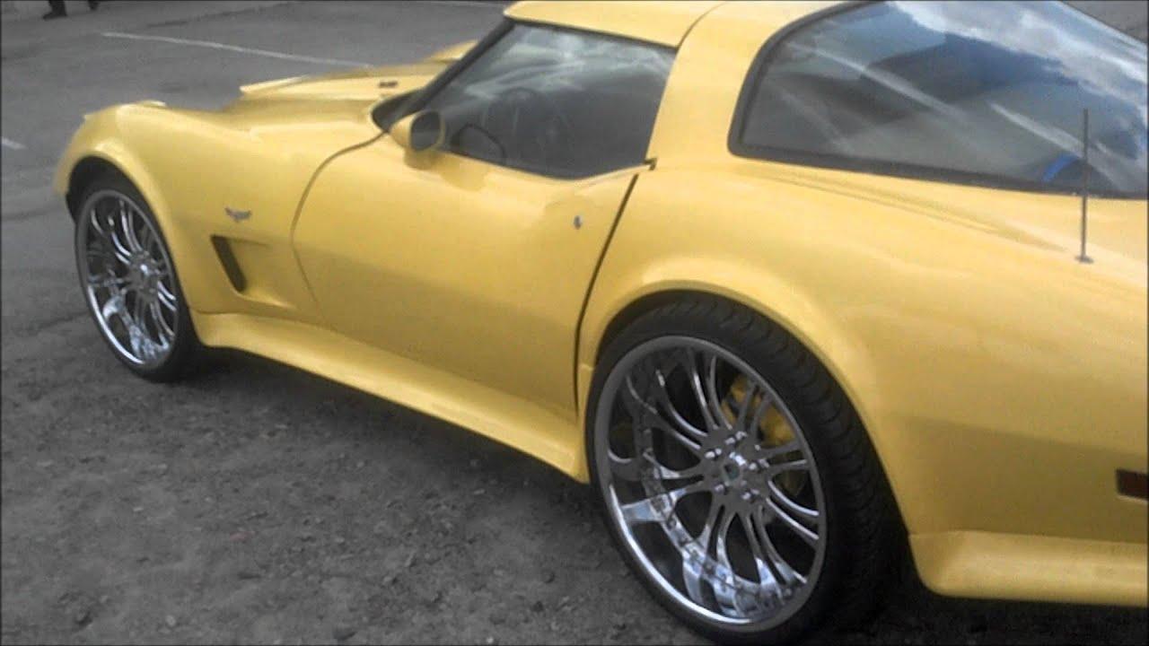 Old School Corvette on Staggered 22 inch Asantis - YouTube