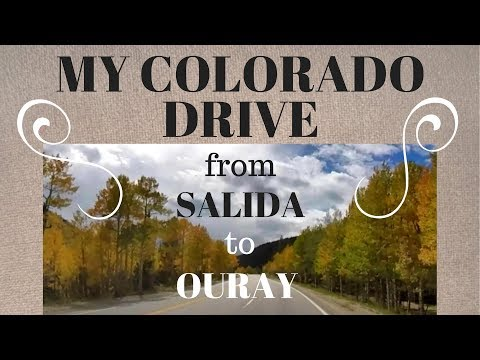 A Beautiful Colorado Drive from Salida to Ouray