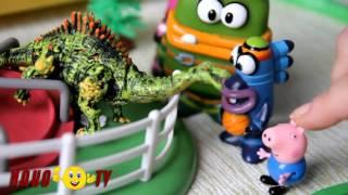 Мультик с Динозавром Свинка Пеппа  Куми Куми и огромный динозавр Джорджа