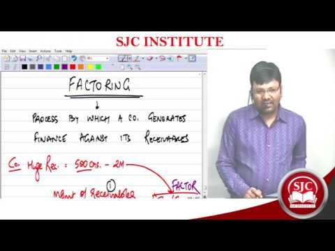 CA CMA CS | FM/SFM | Factoring - Conceptualising the Effective Cost | Satish Sir