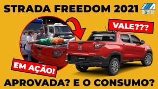 Nova Fiat Strada 2021 Freedom   Delivery motoreseacao   Consumo   Desempenho   Test Drive