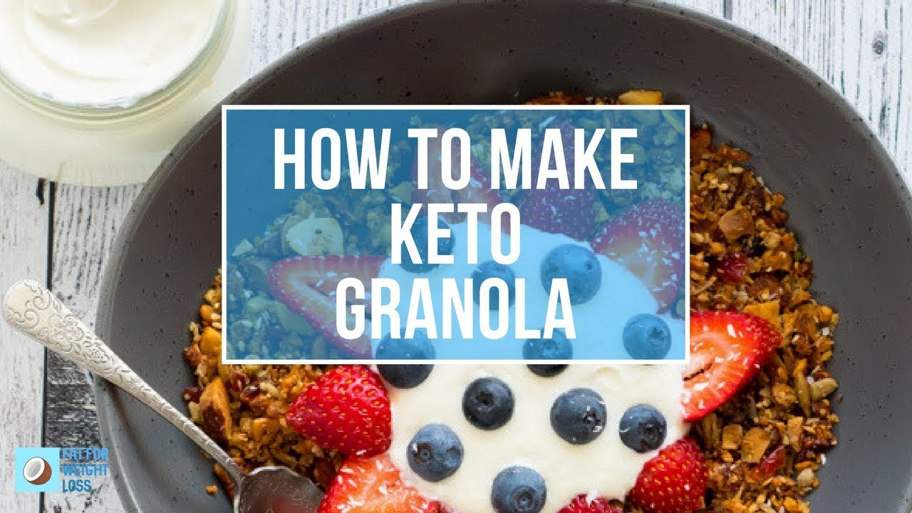 Keto Low Carb Granola | CRUNCHY BREAKFAST CEREAL - YouTube