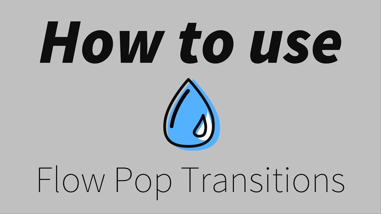Flow Pop | 60 Pre-made Smooth FCPX Transitions