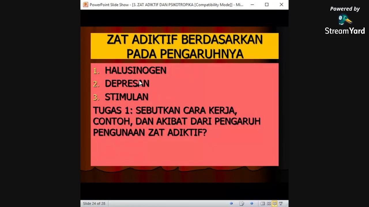 Zat Adiktif Dan Psikotropika Youtube