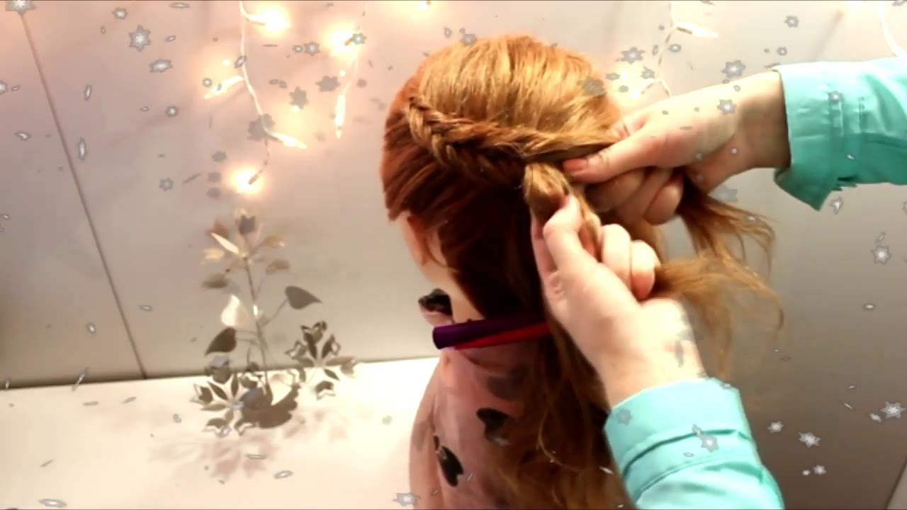 Прическа на длинные средние волосы коса для девочек. Детские прически косички