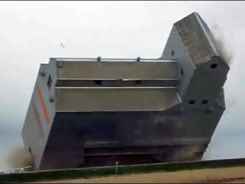 Grain Elevator Demolition In Coronach, SK.
