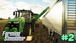 ЛОШАДКИ, ПРИЦЕП, КОМБАЙН - ВЫЖИВАНИЕ ФЕРМЕРА - Farming Simulator 19 #2