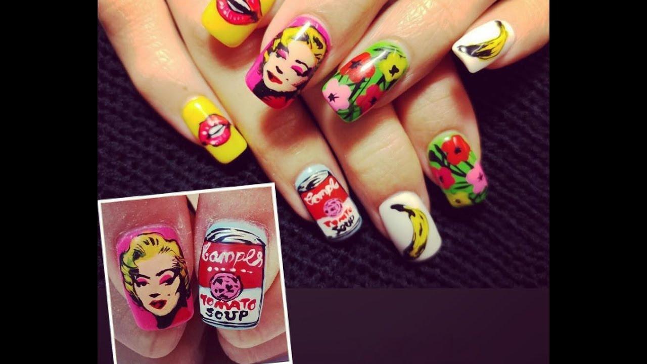 Pop art nails andy warhol inspired nail art youtube pop art nails andy warhol inspired nail art prinsesfo Choice Image