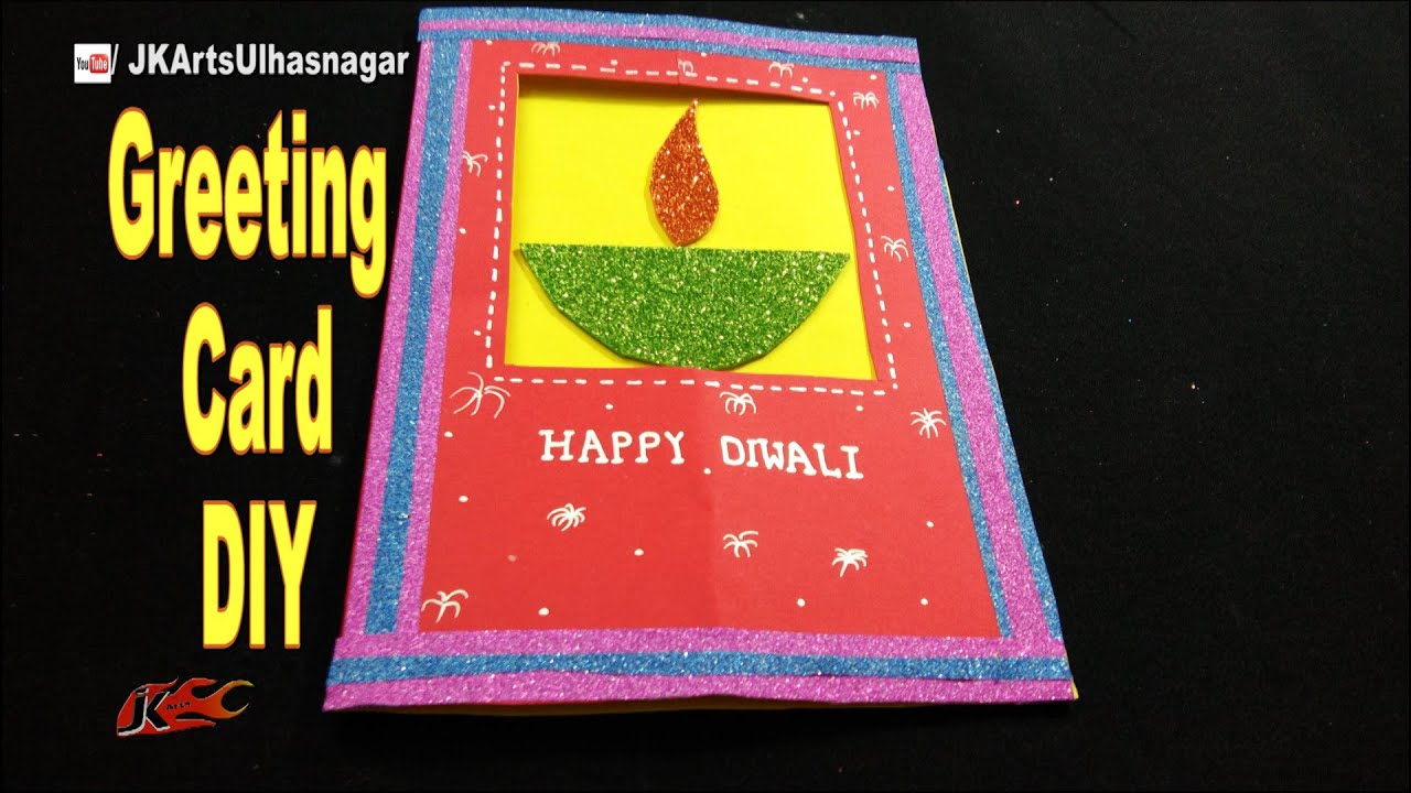 Diwali Greeting Card Making Ideas For More Check Out Diwali