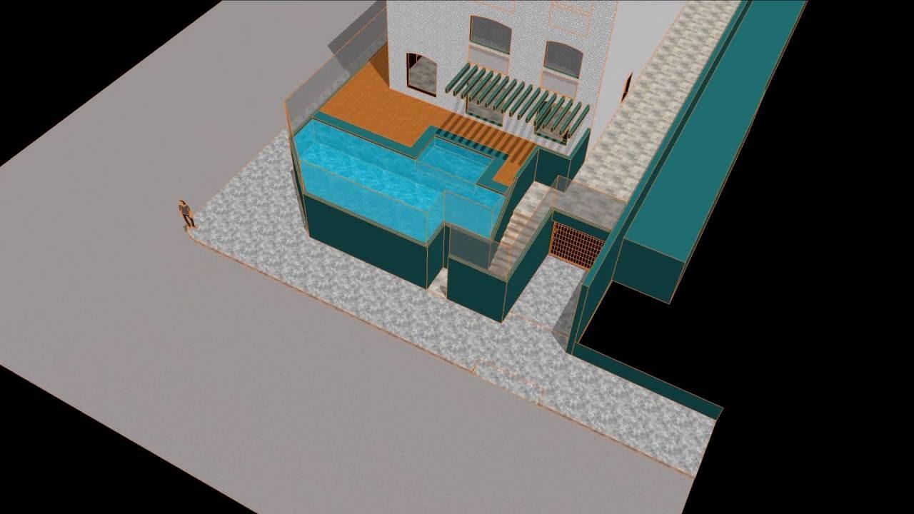 tutorial sketchup piscina - arq. carlos ac machado - youtube