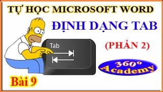 Tự học Microsoft Word - Bài 9_2: Định Dạng Tab (phần 2)