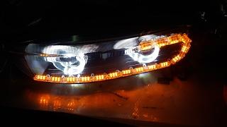 Гаражный тюнинг #6 - Тюнинг оптики (фар) Mitsubishi Galant VIII (8)