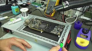 Ремонт видеокарты  AMD Radeon R9 270X.