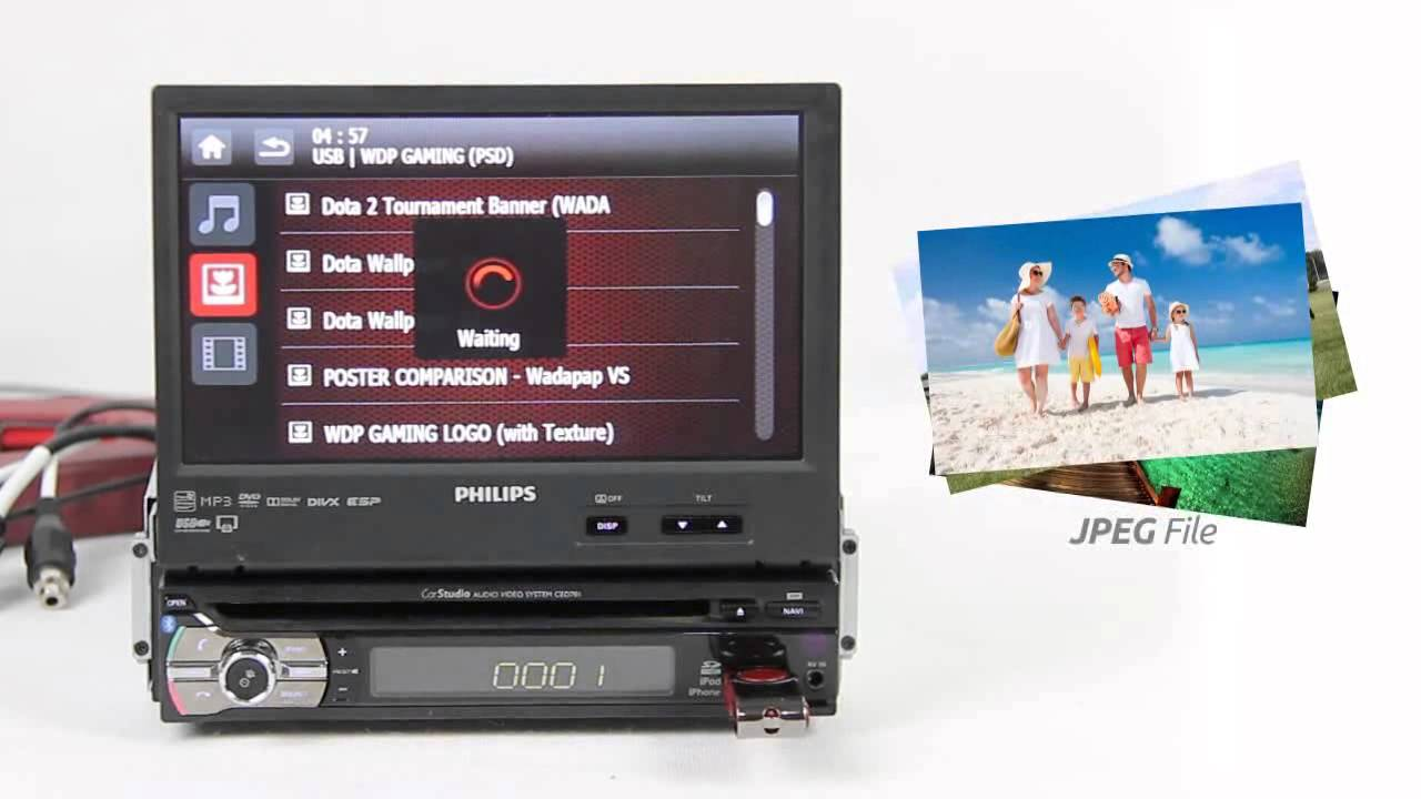 Car Audio System >> Philips CED781 Car Audio Stereo System with Mirror Link ...
