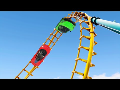 MODDED ROLLERCOASTER CAR RACE! (GTA 5 Funny Moments)