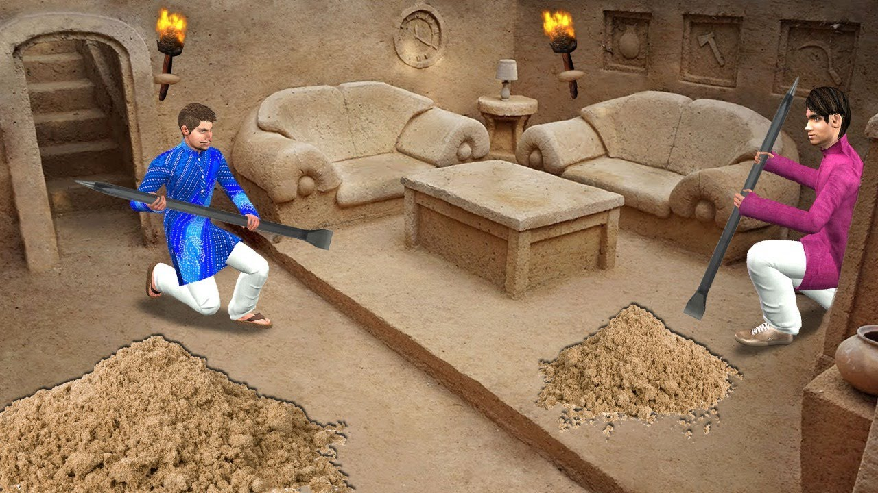 आदिम रेत हाउस निर्माण Primitive Sand House Construction Comedy Video Hindi Kahaniya हिंदी कहानी