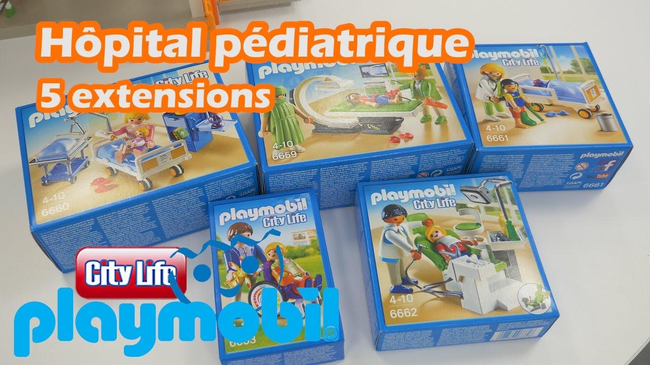 Constructions Pédiatrique Extensions 5 Démo Playmobil Des De L'hôpital QthrdBCsx