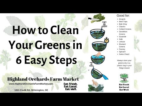 How to clean or revive your greens