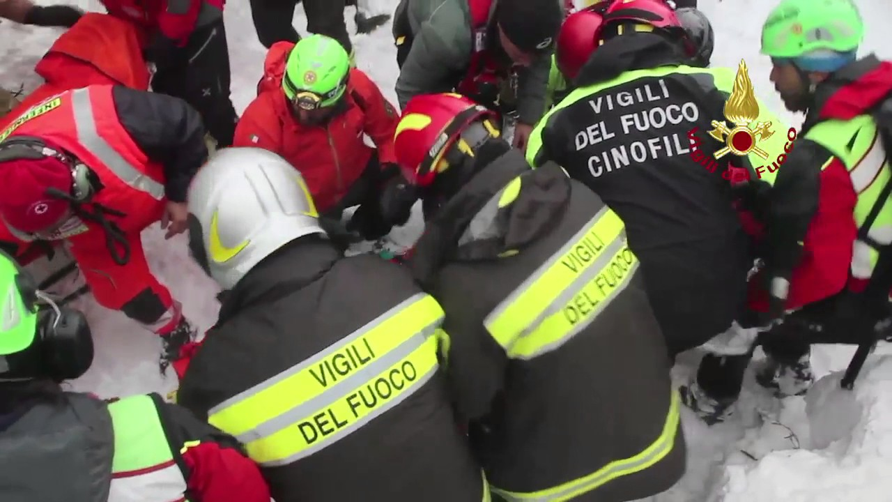 People Saved By Firefighters After The Avalanche At Hotel Rigopiano