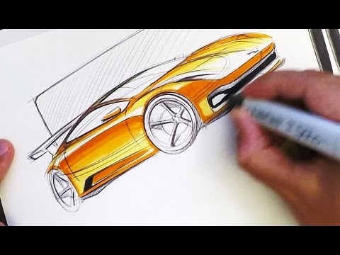 Industrial Design Sketching - Where to Put Markers!