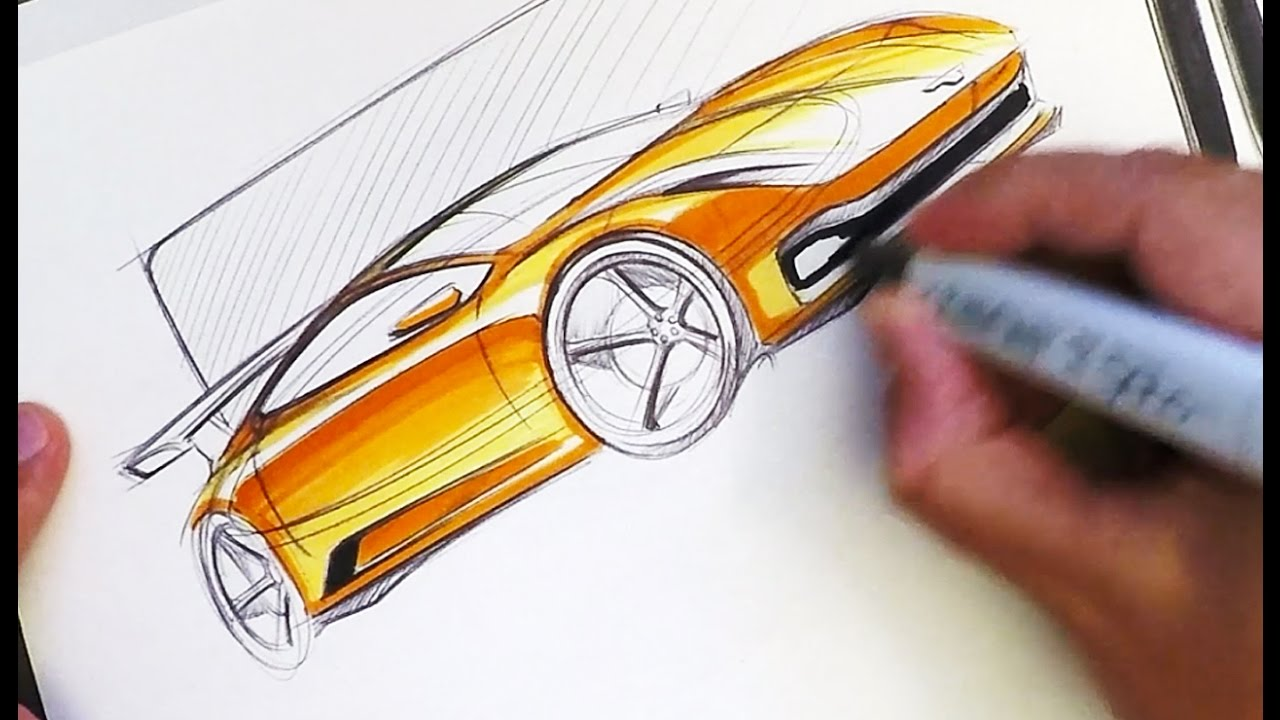 Industrial Design Sketching Where To Put Markers Youtube