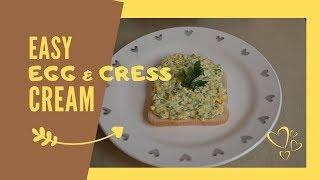 Yummy Egg & Cress cream recipe   Gyors Tojáskrém recept