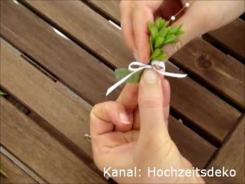 Hochzeitsanstecker Anstecker Fur Die Hochzeit Selber Basteln Youtube