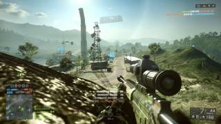 """Battlefield 4 (BF4) XBOX ONE - Sniper Gameplay """"ROGUE TRANSMISSION"""" Conquest HD 1080p"""