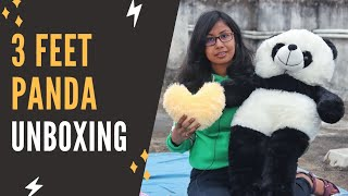 3 Feet PANDA Soft Toy Unboxing Giant Panda Soft Toy Unboxing Best Valentine Gift For Girlfriend