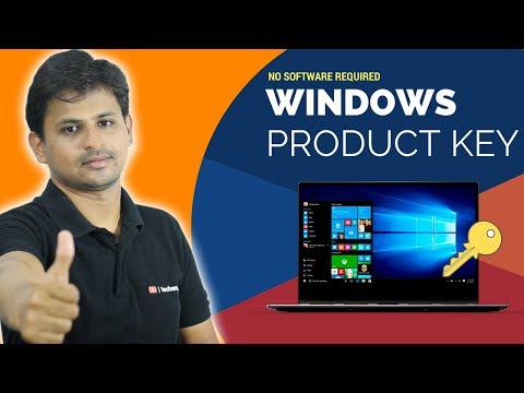 How to get Windows Product Key without Software