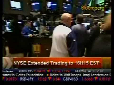 New York Stock Exchange Close Extended - Bloomberg