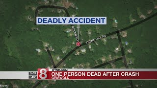 One person dead after Griswold crash