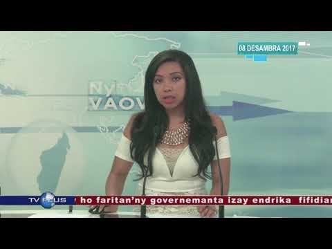 VAOVAO DU 08 DECEMBRE 2017 BY TV PLUS MADAGASCAR
