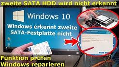 Windows 10 - zweite Festplatte nicht erkannt   fehlt - FIX