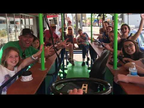 Hopcycles BYOB Pub Crawler Tour for 8-15 People - Video