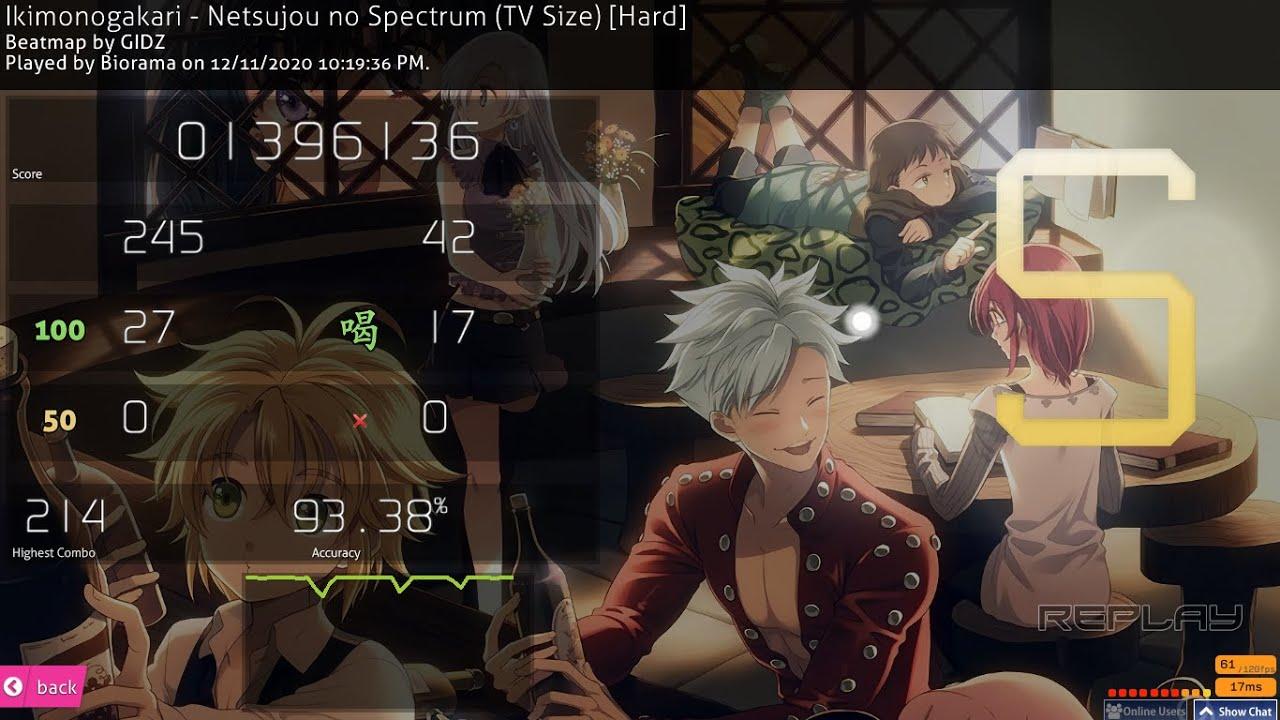 Netsujou no Spectrum [osu! Hard] - YouTube