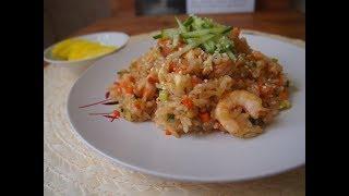 Корейская кухня: Жареный рис с креветками или Сэу поккымбап (새우볶음밥)