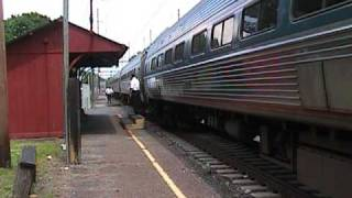 Amtrak Keystone Service trains in Parkesburg Pennsylvania