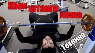 видео Жим штанги лежа: какие мышцы работают и техника выполнения