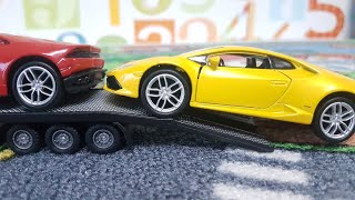 Car transport children toys play car transporter 4 welly cars toys