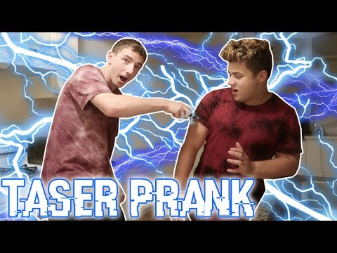 HILARIOUS TASER PRANK GONE WRONG! (HE WAS PISSED)