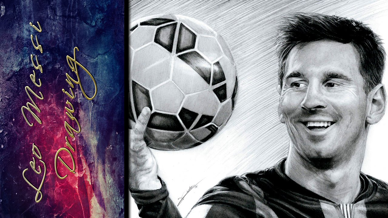 Lionel Leo Messi Drawing Dibujo  YouTube